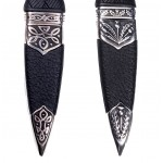 Sgian Dubh with Plain Handle and Top Stone